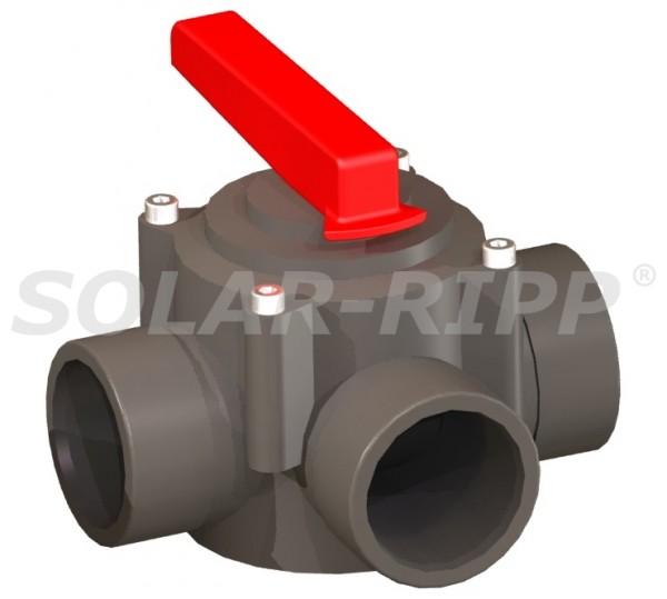 PVC-3-Wege-Handhahn 63/50